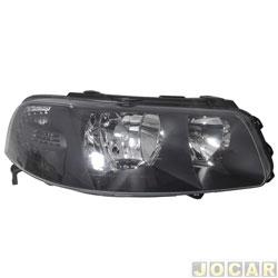 Farol - Arteb - Gol 2000 até 2005 - H7/H1 - Foco Duplo - Máscara cinza escura - lado do passageiro - cada (unidade) - 0160266