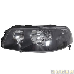 Farol - Arteb - Gol 2000 até 2005 - H7/H1 - Foco Duplo - Máscara cinza escura - lado do motorista - cada (unidade) - 0160265