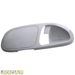 Moldura da maçaneta interna - Gol/Parati 2000 até 2005 - 4 portas - traseira - cinza - lado do motorista - cada (unidade)