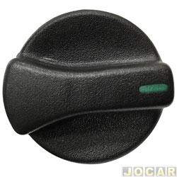 Botão do ar - Gol/Parati/Saveiro 1995 até 1999 - luz verde - preto - cada (unidade)