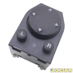 Interruptor do retrovisor - Kostal - Gol/Parati/Saveiro 2000 até 2008 - botão de regulagem - luz laranja - 7 pinos - preto - cada (unidade) - 3838207