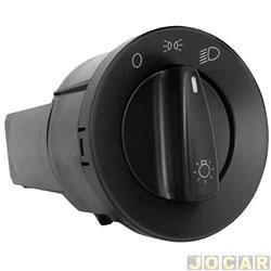 Interruptor do farol - Kostal - Gol/Parati/Saveiro 2000 até 2013 - sem reostato - farol simples - cada (unidade) - 4052334