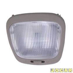 Lanterna de teto - alternativo - Gol/Parati GL 1995 até 1999 - Kombi 1999 em diante - cinza - cada (unidade)