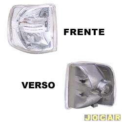 Lanterna dianteira tuning - alternativo - Inovox (RCD) - Gol/Parati/Saveiro/Voyage 1991 até 1994 - Evolution - encaixe Arteb - cristal (branca) - lado do passageiro - cada (unidade) - I2138