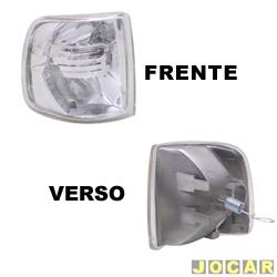 Lanterna dianteira tuning - alternativo - Inovox (RCD) - Gol/Parati/Saveiro/Voyage 1991 até 1994 - Evolution - encaixe Cibié - cristal (branca) - lado do passageiro - cada (unidade) - I2136