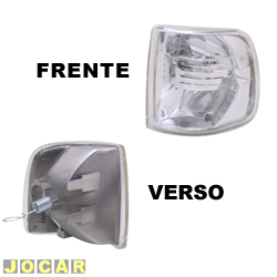 Lanterna dianteira tuning - alternativo - Inovox (RCD) - Gol/Parati/Saveiro/Voyage 1991 até 1994 - Evolution - encaixe Cibié/Arteb - cristal (branca) - lado do motorista - cada (unidade) - I2137