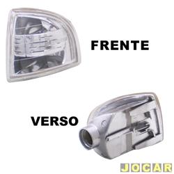 Lanterna dianteira tuning - alternativo - Inovox (RCD) - Gol/Parati/Saveiro 1995 até 1999 - Evolution - encaixe Arteb - cristal (branca) - lado do passageiro - cada (unidade) - I2358
