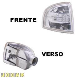 Lanterna dianteira tuning - alternativo - Inovox (RCD) - Gol/Parati/Saveiro 1995 até 1999 - Evolution - encaixe Arteb - cristal (branca) - lado do motorista - cada (unidade) - I2359