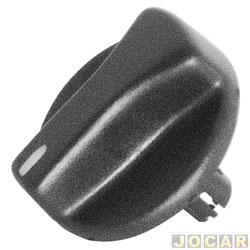 Botão do ar - Gol/Parati/Saveiro 1995 até 1999 - luz branca - preto - cada (unidade)