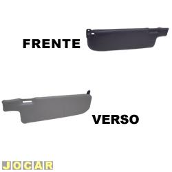 Quebra-sol - alternativo - Gol - até 1994 - cinza e preto - sem espelho - lado do motorista - cada (unidade)