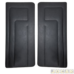 Revestimento de porta - alternativo - Gol 1985 até 1987 - Largo - preto - par