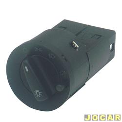 Interruptor do farol - Kostal - Gol/Parati/Saveiro 2000 até 2005 - com reostato - para farol simples - luz vermelha - cada (unidade) - 4052335