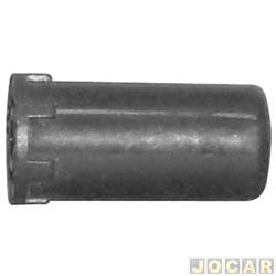 Botão do freio de mão - alternativo - Gol/Parati/Saveiro 1995 até 1999 - preto - cada (unidade)