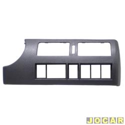 Moldura do painel de instrum. - alternativo - Gol/Parati/Saveiro 2000 até 2005 - cinza escuro - central - cada (unidade)