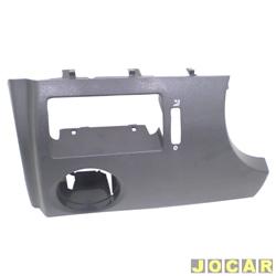 Moldura do painel de instrum. - alternativo - Gol/Parati/Saveiro 2000 até 2005 - preta - lado do motorista - cada (unidade)