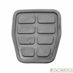 Capa de pedal - Gol/Parati/Saveiro 1985 em diante - Santana/Versailles/Kombi 1995/ - para freio e embreagem - cinza - cada (unidade)