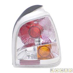 Lanterna traseira tuning - alternativo - Inovox (RCD) - Gol 1995 até 1999 - linha Evolution - encaixe Arteb - branca - lado do passageiro - cada (unidade) - I2350
