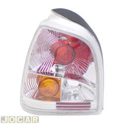 Lanterna traseira tuning - alternativo - Inovox (RCD) - Gol 1995 até 1999 - linha Evolution - encaixe Arteb - branca - lado do motorista - cada (unidade) - I2351