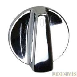 Botão do ar - alternativo - Gol/Parati/Saveiro 2000 até 2008 - cromado - cada (unidade)