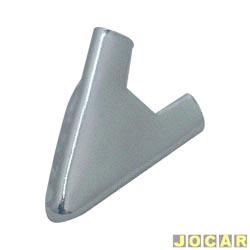 Mata-junta do friso da janela - Gol/Parati/Saveiro/Voyage 1980 até 1986 - da porta - modelo V (quebra-vento) - cromado - cada (unidade)