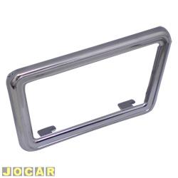 Moldura da maçaneta interna - alternativo - Gol-Parati-Saveiro-Voy-1988 até 1994/Sant até 90 - cromada - lado do motorista - cada (unidade)