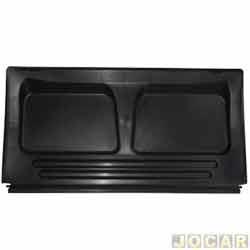 Tampão do porta-malas - alternativo - Gol 1980 até 1994 - com relevo- com ou sem recorte para limpador  - preto - cada (unidade)