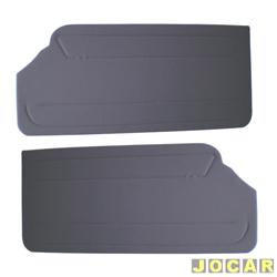 Revestimento de porta - alternativo - Gol 1988 até 1994 - modelos GL/GLS - de curvim - cinza - par