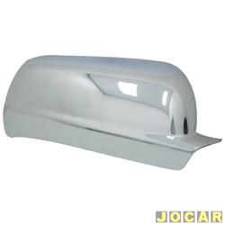 Aplique capa do retrovisor - Gol/Saveiro/Parati 2000 até 2008 - auto-adesiva - cromada - lado do passageiro - cada (unidade)