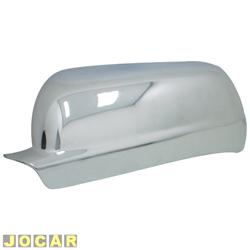 Aplique capa do retrovisor - Gol/Saveiro/Parati 2000 até 2008 - auto-adesiva - cromada - lado do motorista - cada (unidade)