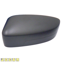 Capa do retrovisor - alternativo - Gol/Voyage/Saveiro G5 2009 até 2012 - preta - lado do motorista - cada (unidade)