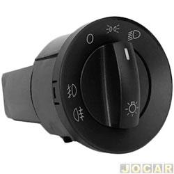 Interruptor do farol de milha - Polo 2003 até 2010 - para farol milha e lanterna traseira - sem reostato - preto - cada (unidade)