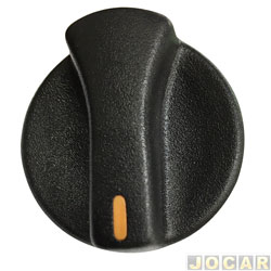 Botão do ar - alternativo - Gol 1995 até 1999 - luz laranja - preto - cada (unidade)