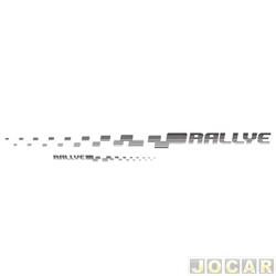 Faixa adesiva - alternativo - Gol Rallye 2006 até 2008 - decorativa - auto adesiva - grafite - jogo
