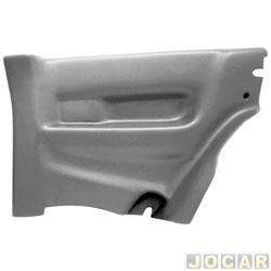 Revestimento lateral traseiro - alternativo - Formi-Plast - Gol 1995 até 1999 2 portas - cinza - lado do passageiro - cada (unidade) - 026