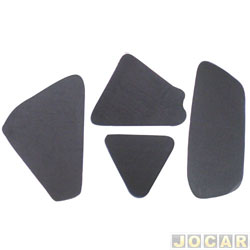 Anti-ruído do capô - Toroflex / Vibrac System - Gol/Saveiro 2006 até 2008 - Parati 2006 em diante - auto-adesivo - preto - jogo - 03459