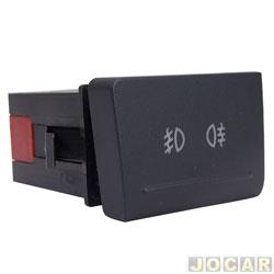 Interruptor do farol de milha - alternativo - Gol/Voyage/Saveiro G5 2009 até 2012 - cada (unidade)