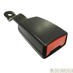 Trava do cinto de segurança - Gol 2000 até 2008 - Fox 2003 até 2014 - preto - lado do motorista - cada (unidade)