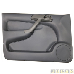 Revestimento de porta - alternativo - Formi-Plast - Gol 1998 até 2005 4 portas G2/G3 - cinza - dianteira - lado do motorista - cada (unidade) - 538