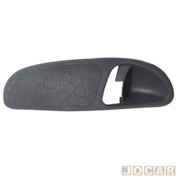 Moldura da maçaneta interna - alternativo - Gol/Parati/Saveiro 1998 até 2003 - 4 portas - cinza escuro - lado do motorista - cada (unidade)