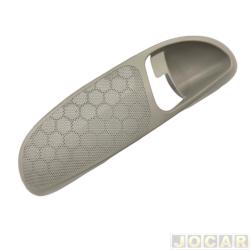 Moldura da maçaneta interna - Gol 1998 até 2003 4 portas - cinza claro - lado do motorista - cada (unidade)