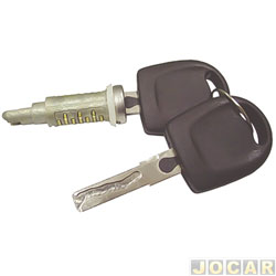Cilindro da chave da porta - Gol/Parati/Saveiro 2003 até 2008 - com chave - snake key - cada (unidade)