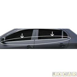 Friso da janela - alternativo - Gol G5 2009 em diante - Aplique - auto colante - cromado - jogo