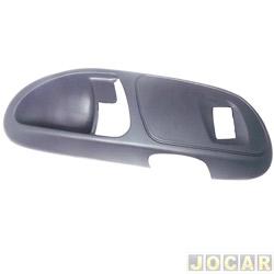 Moldura da maçaneta interna - Gol/Parati 2000 até 2005 - 4 portas - traseira com furo de interruptor  - cinza escuro - lado do passageiro - cada (unidade)