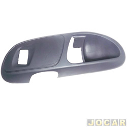 Moldura da maçaneta interna - Gol/Parati 2000 até 2005 - 4 portas - traseira com furo de interruptor  - cinza escuro - lado do motorista - cada (unidade)