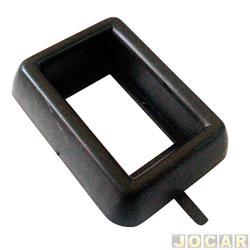 Moldura do interruptor - alternativo - Gol/Parati/Santana/Quantum/Voyage/Saveiro 1988 até 1994 - simples - cromada - cada (unidade)