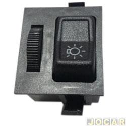 Interruptor do farol - alternativo - Gol/Voyage/Parati/Saveiro 1987 até 1994 - Santana até 1990 - com reostato - cada (unidade)