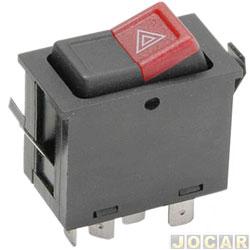 Interruptor de emergência - alternativo - Gol/Voyage/Parati/Saveiro 1987 até 1994 - Santana até 1990 - cada (unidade)