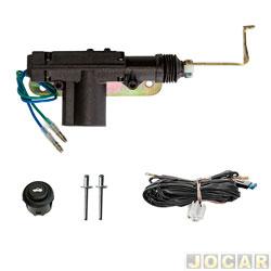 Trava elétrica - Dial - Gol 1995 até 1999 GII 2 e 4 portas - para tampa do porta mala - jogo - LKPMVW32
