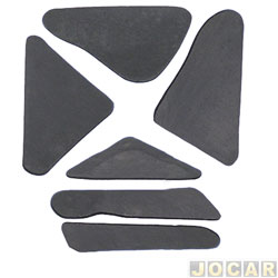 Anti-ruído do capô - Toroflex / Vibrac System - adesivo - Gol 1991 até 1994 - Parati 1991 até 1995 - Saveiro 1991 até 1997 - Voyage 1991 até 1996 - preto - jogo - 00817