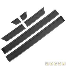 Friso lateral - alternativo - Gol GL 1987 at� 1994  - largo 12 cm de largura - de cola - preto - jogo